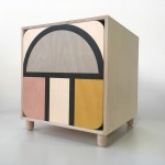 Ubude Cabinet with Curve Pattern